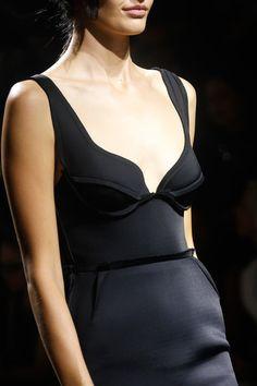 Structured Fashion - little black dress with structured bodice; elegant fashion details // Lanvin