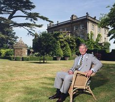 Prince Charles, heir apparent to the throne of Great Britain, at his beloved Highgrove.