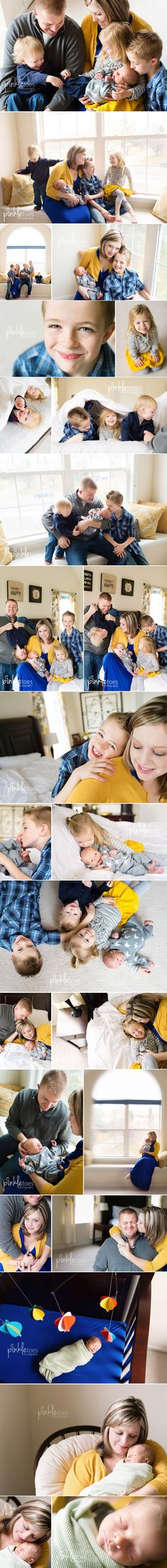 Great newborn photo shoot for the whole family! From pinkletoes photography.