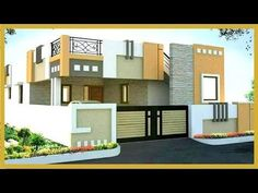 Trends For Design Modern House Front View Single Floor Simple House Exterior Design, House Front Wall Design, Single Floor House Design, Village House Design, Bungalow House Design, Front Elevation Designs, House Elevation, Building Elevation, Morden House