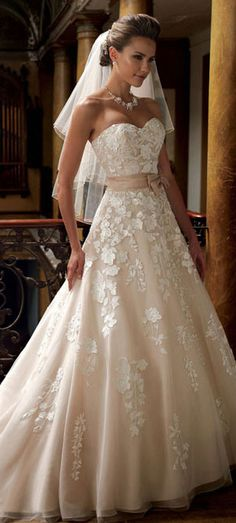 summer 2014 wedding dresses. I Like This One.. Different Kind Of Style From What Normally Like...