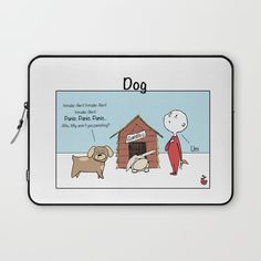Dog: INTRUDER ALERT Laptop Sleeve