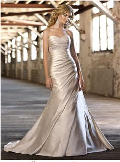 Robe mariage couleur champagne