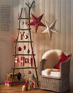 how to decorate with vintage ladders