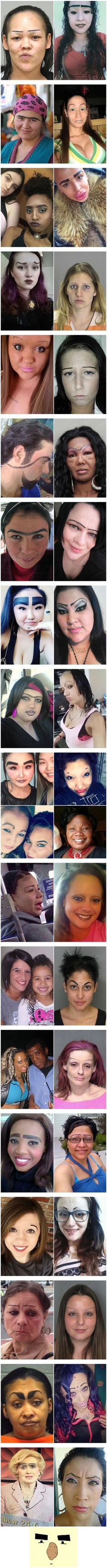 The Worst Sets of Eyebrows in History