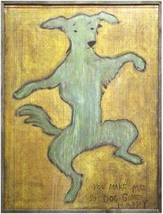 LoveFeast Shop - Dancing Dog Art Print, $600.00 (http://www.lovefeastshop.com/dancing-dog-art-print/)