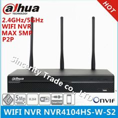 Original DAHUA NVR4104HS-W-S2 5MP WIFI NVR 4 Channel Compact 1U WiFi Network Video Recorder Support 2.4GHz and 5GHz dual-bands  Price: 256.00 & FREE Shipping  #tech|#electronics|#gadgets|#lifestyle Embedded Linux, Sec Network, 4 Channel, Ip Camera, Compact, Wifi, Technology, Free Shipping, The Originals