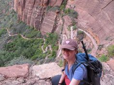 zig-zagging trail leading to Angels' Landing