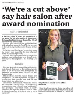 #17days #HHSLiverpool #LCT16 #LOreal #Bootle #Liverpool #Hairdressers #HairSalon #ChampNews www.harrisonhairstudio.co.uk