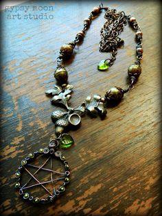 gypsy moon art studio necklace