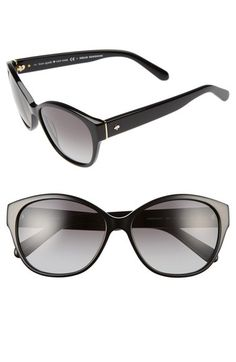 KATE SPADE NEW YORK 'Kiersten' 56Mm Cat Eye Sunglasses. #katespadenewyork #