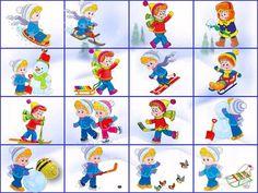 Zimní sporty - pexeso