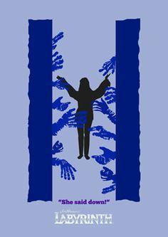 Sarah 'She Said Down' Labyrinth Movie Poster. #Poster #Print #Labyrinth #Film #Henson #JimHenson #Bowie