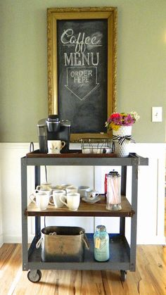 Create A Coffee Bar For Your Guests.