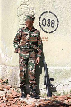 Ribs stop camuflage uniform