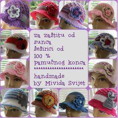 crocheted hats for kids, made of 100 % cotton