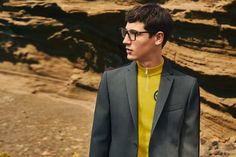 Nicolas Ripoll fronts the Fall/Winter 2017 campaign of Fendi, shot in Lanzarote. Nick Picks, Fendi, Editorial, Aw 2017, Wearing Glasses, Advertising Campaign, Fall Winter Outfits, Winter 2017, Suit Jacket