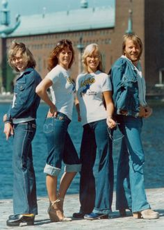 "#ABBA off the ""Ring Ring"" Album, sporting Lois Denim.  I love EVERY SINGLE ARTICLE of Clothing on this album cover..  #RETROSTYLE  #DENIM"