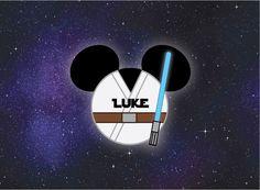 Luke Skywalker Mickey Head for Disney Cruise Stateroom Door by plumeriaprints on Etsy