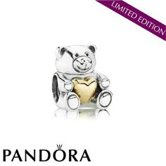 Pandora Bear My Heart Charm 79459 #jewelrydesign