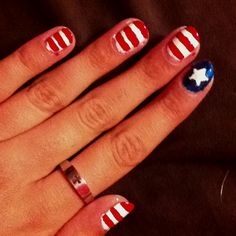 My USA nails for the Olympics!!!