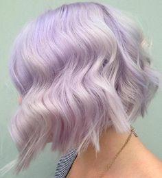 The Prettiest Pastel Purple Hair Ideas Choppy Pastel Purple Bob Blond Pastel, Pastel Purple Hair, Purple Bob, Purple Pixie, Pastel Bob Hair, Light Purple Hair Dye, Pastel Colored Hair, Violet Hair, Bright Hair