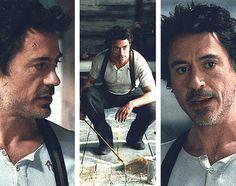Love the suspenders and Henley shirt combo. Sherlock Holmes Robert Downey, New Sherlock Holmes, Sherlock John, Robert Downey Jr, Holmes Movie, Guy Ritchie, Iron Man Tony Stark, Jude Law, Marvel