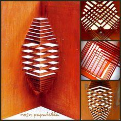 escultura aço oxidado - origami arquitetonico II by rosy papatella