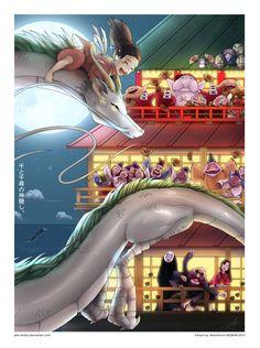 Spirited Away by AKK-STUDIO in Studio Ghibli Animated Films: Awesome Fan Artworks. Part 2