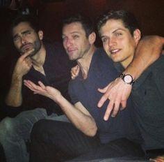 Tyler Hoechlin, Ian Bohen and Daniel Sharman