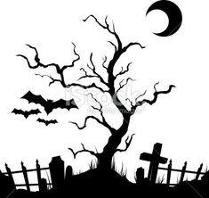 scary+landscapes | Mysterious Hollow Dark Landscape by Alfoart ...