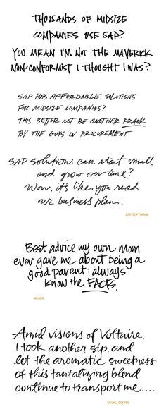 Handwriting for advertising, casual scripts
