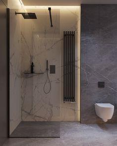 Interior design of privat house in Kyiv Bathroom Lighting Design, Washroom Design, Toilet Design, Bathroom Design Luxury, Modern Bathroom Design, Wet Room Bathroom, Small Bathroom, Dream House Interior, Apartment Interior Design
