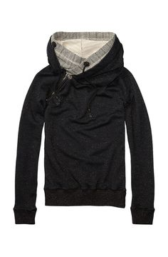 Sweater With Double Layer Hood - Scotch & Soda