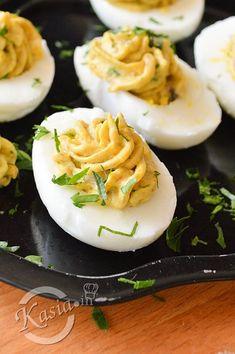 Za kilka dni Wielkanoc, czas pomyśleć czym nafaszerujecie jajka :)   Na blogu mam kilka pomysłów KLIK Appetizers, Eggs, Cooking, Breakfast, Food, Kitchen, Morning Coffee, Appetizer, Eten