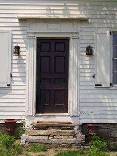 Farmhouse door, on the outskirts of sleepy, historic Sharon Springs, New York.