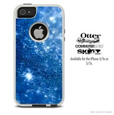 The Blue Unfocused Sparkle Skin For The iPhone 44s by TheSkinDudes