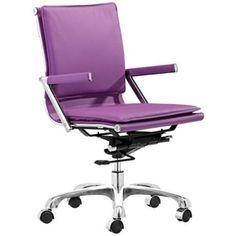 Zuo Lider Plus Purple Office Chair | #pantone #radiantorchid #coloroftheyear