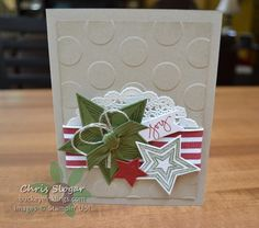 Love this fun Holiday card made with the Be The Star stamp set and Star framelits.