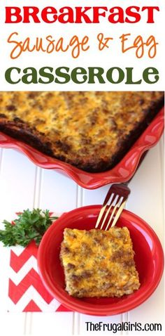 Breakfast Sausage and Egg Casserole Recipe! ~ from TheFrugalGirls.com ~ this overnight casserole is SO delicious and perfect for Saturday breakfast, Sunday brunch, or even Easter, Thanksgiving or Christmas morning! #casseroles #recipes #thefrugalgirls