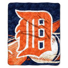 Detroit Tigers MLB Sherpa Throw (Big Stick Series) (50x60)