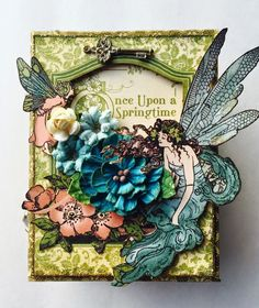 Graphic 45 Once Upon A Springtime ATC Book Box Tutorial by Maria Cole.