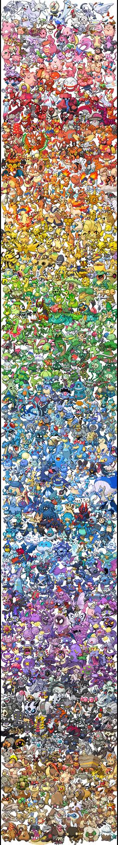 Pokemon Sprite Spectrum | All 649 Pokemon (gogoatt.tumblr.com)