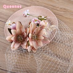 >> Click to Buy << 2017 European Ladies Royal Party Fancy Show Flower Veil Hat Handmade Pink Fabric Lotus Fascinator Hairpin Bride Headdress 25CM #Affiliate
