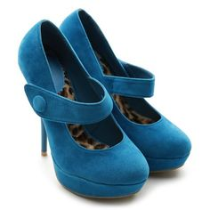 Ollio Women's Faux Suede Platforms Classic High Heels Multi Colored Shoes