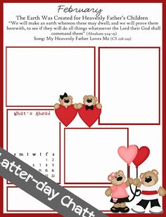 valentine newsletter templates free
