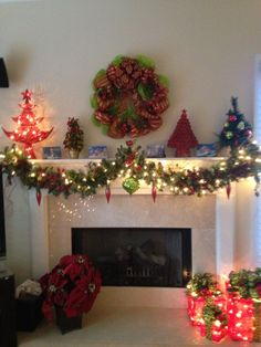 Family room mantle.