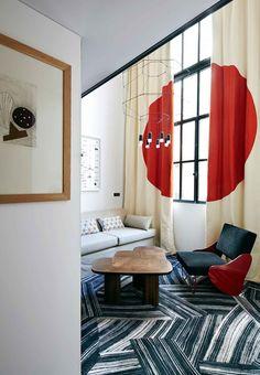 New Rooms with Mondrian-inspired Colour at Hôtel du Ministère, Paris | http://www.designrulz.com/design/2015/08/new-rooms-with-mondrian-inspired-colour-at-hotel-du-ministere-paris/