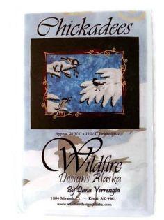 Chickadees Applique Quilt Pattern by Wildfire Designs Alaska