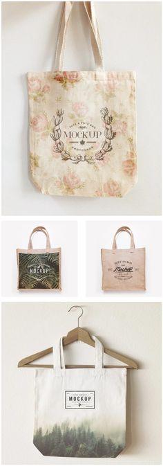 3 Jute & Tote Bags Mockup by EAMEJIA STORE